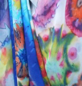 handgemaakte zijden sjaals Halle Design