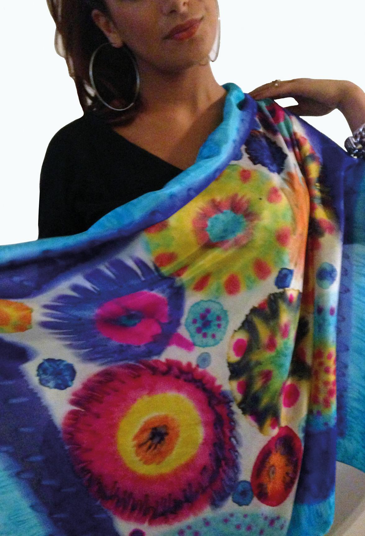 Summertime fashion - colorful shawl Halle Design