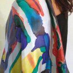 Summertime fashion -  colorful silk shawls Halle Design