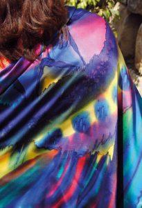 handgemaakte zijden sjaal kleurrijk