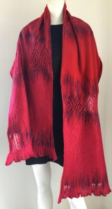 Handmade scarf - upcycling textile