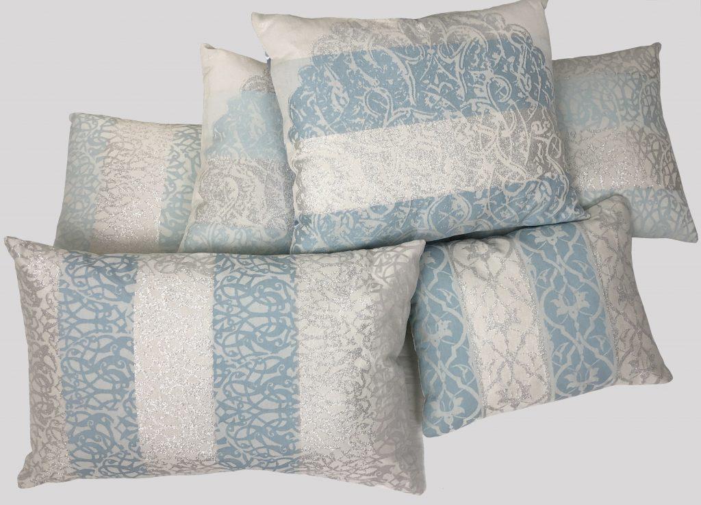 Home textile Halle Design blue cushions