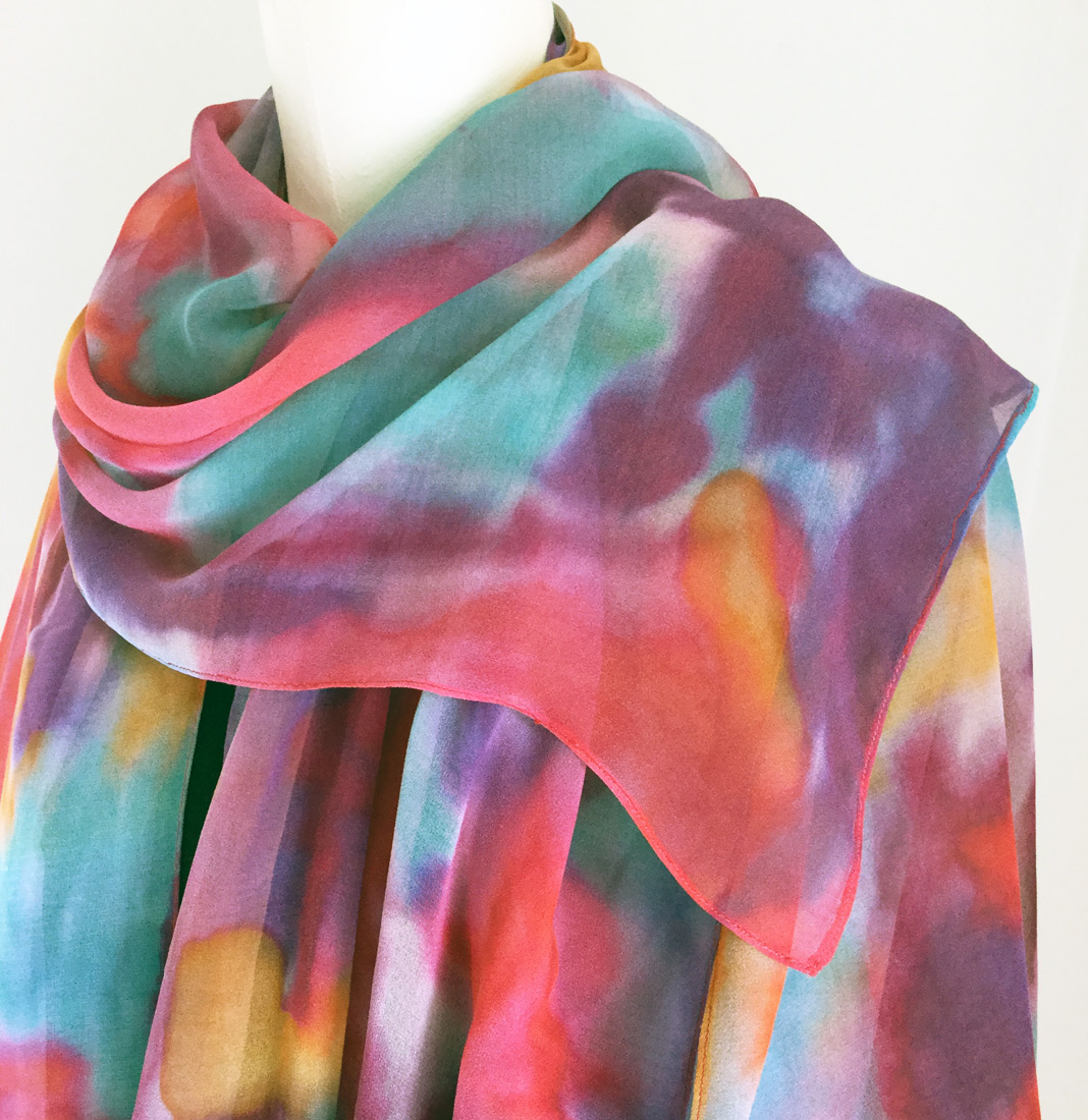 fashion design colorful silk shawl
