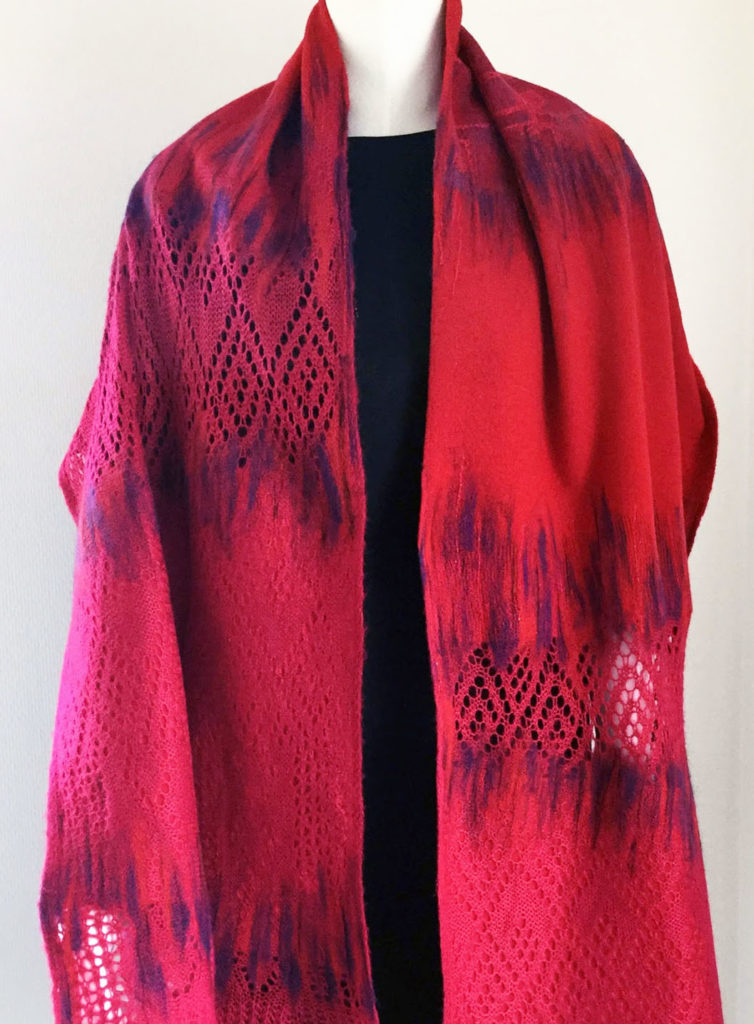 fashion textile design techniques red shawl