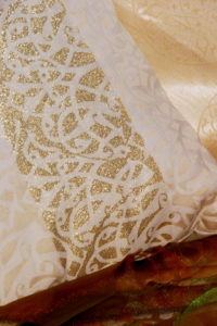 home textile creme gold pillows