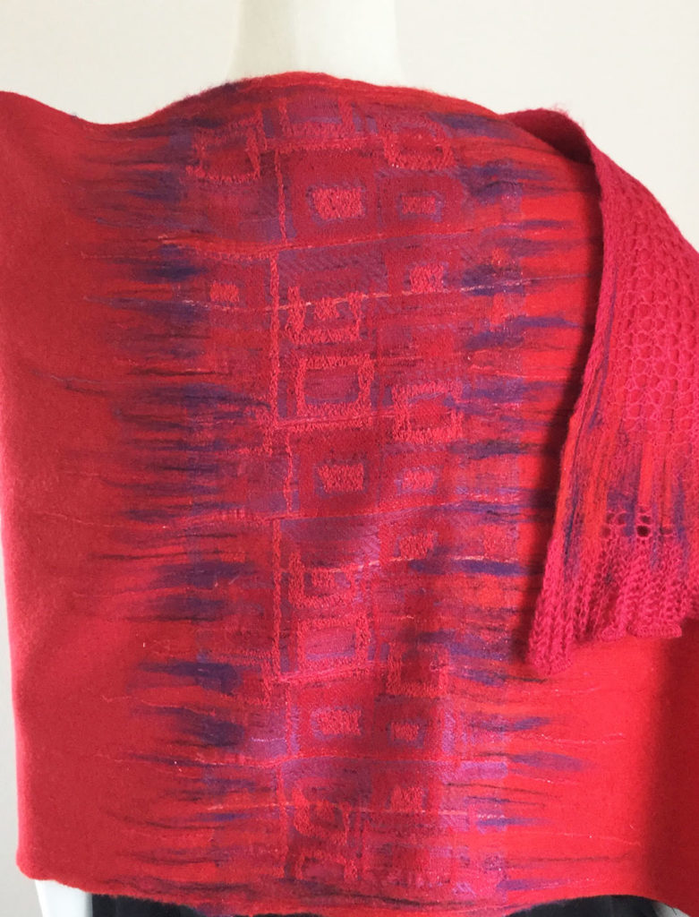sustainable textile designs red shawl
