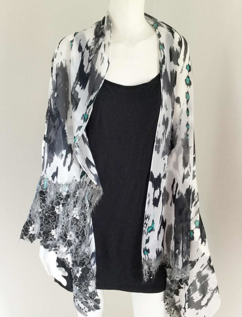 Handmade scarves dry felt