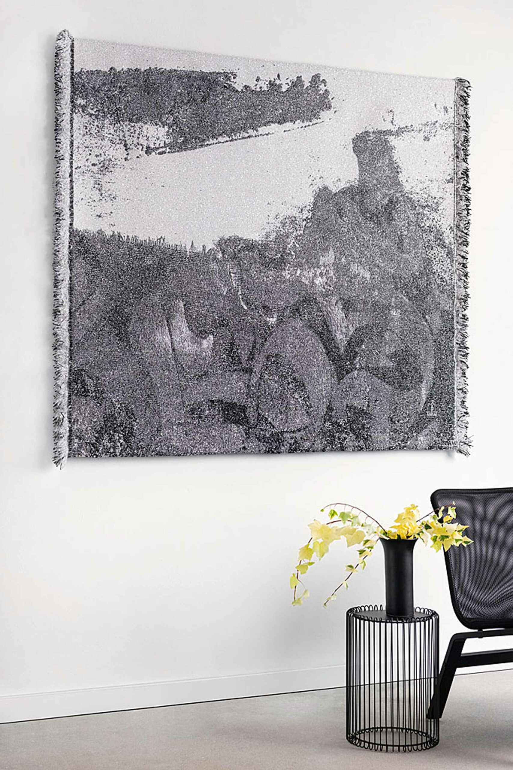 home textile black and white tapestry